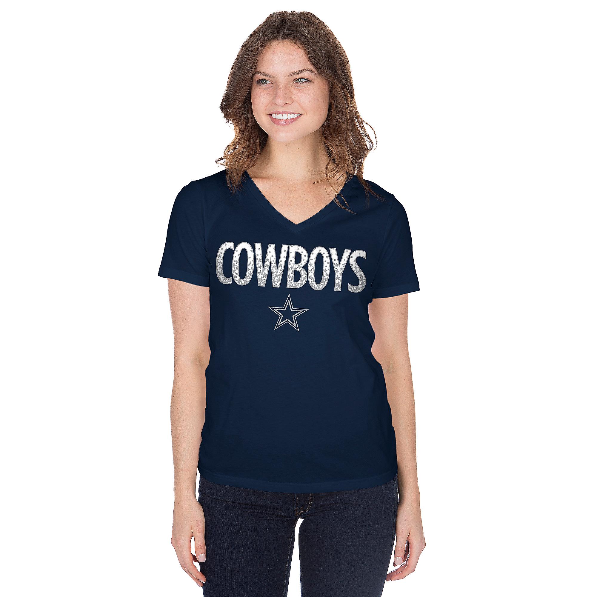 Dallas Cowboys Womens Brilliant Short Sleeve T-Shirt