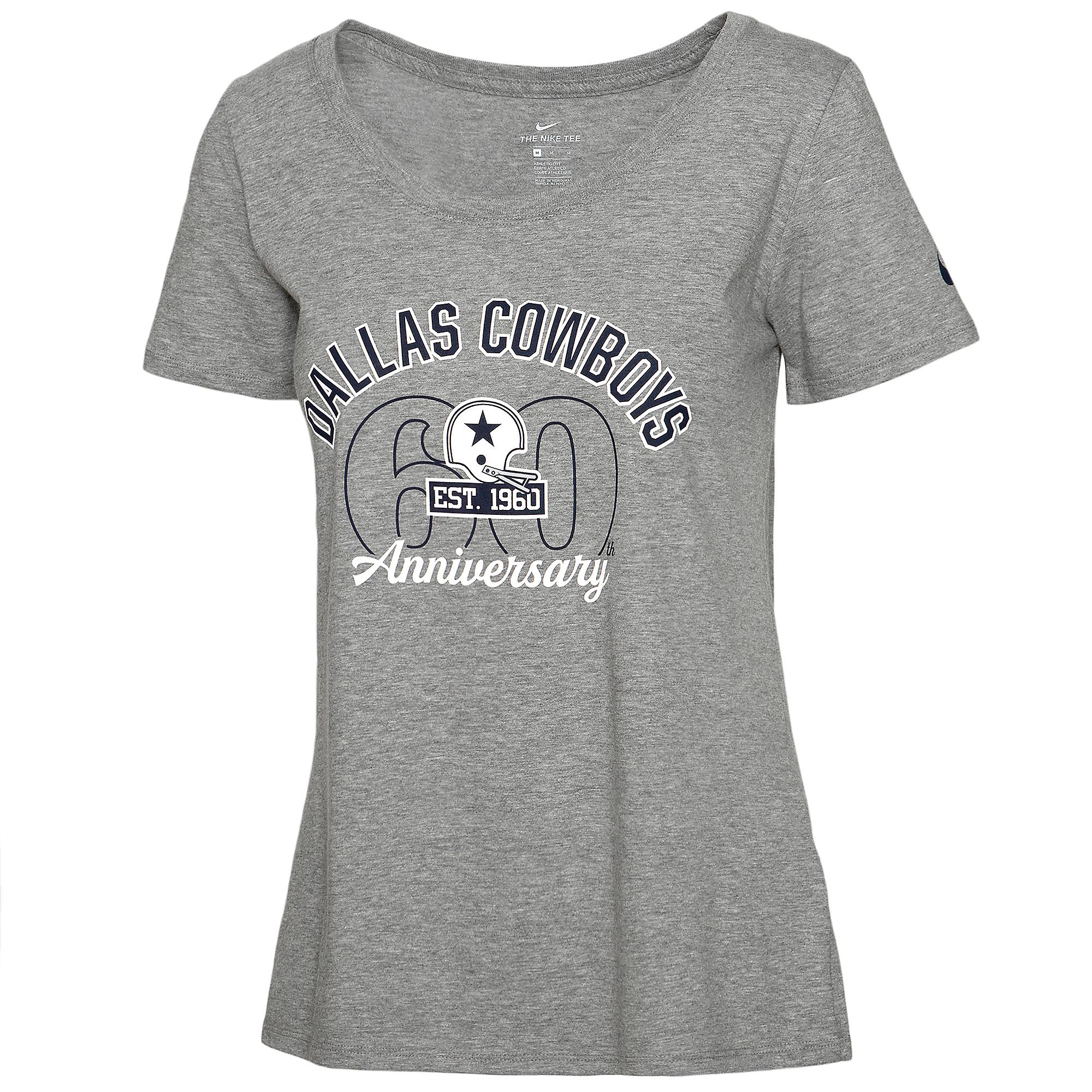 Dallas Cowboys Nike 1960 Womens Short Sleeve Cotton T-Shirt