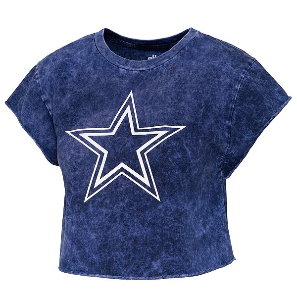 Dallas Cowboys Alta Gracia Womens Cloud Wash Short Sleeve Cropped T-Shirt