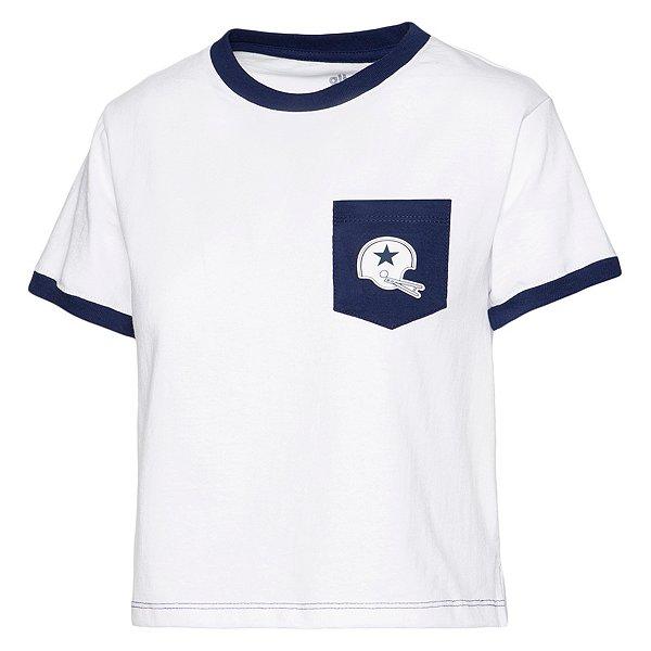 Dallas Cowboys Alta Gracia Womens Short Sleeve Cropped Ringer Pocket T-Shirt