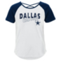 Dallas Cowboys Girls Game Day Slouched Cross Back Short Sleeve T-Shirt