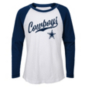 Dallas Cowboys Girls Tradition Long Sleeve Raglan T-Shirt
