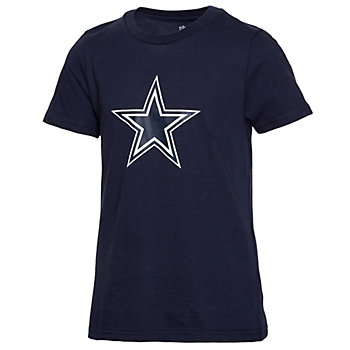 Dallas Cowboys Girls Primary Logo Fashion Fit Short Sleeve T-Shirt
