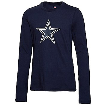 Dallas Cowboys Girls Primary Logo Fashion Fit Long Sleeve T-Shirt