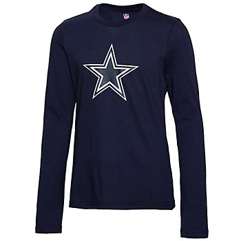 Dallas Cowboys Girls Primary Logo Fashion Fit Long Sleeve T-Shirt