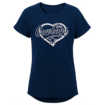 Dallas Cowboys Girls Best Life Dolman Short Sleeve T-Shirt