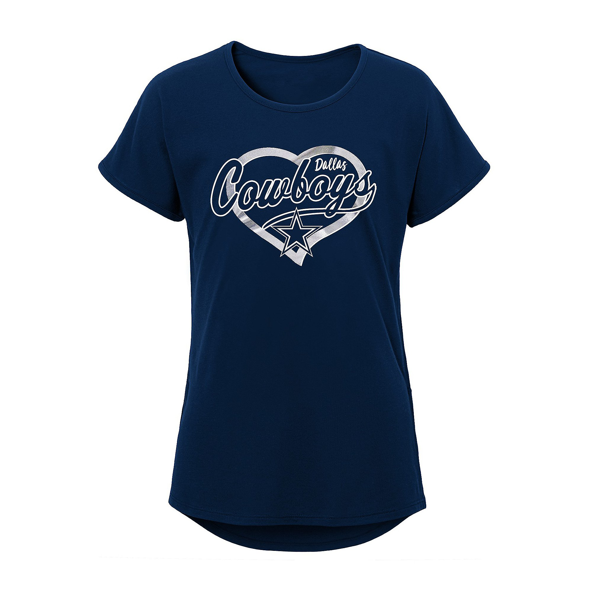 Dallas Cowboys Girls Best Life Dolman Short Sleeve T-Shirt