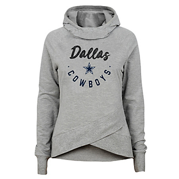 Dallas Cowboys Girls Charge Funnel Neck Hooded Shirt