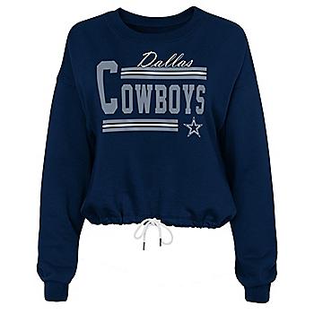 Dallas Cowboys Juniors Regal Drop Shoulder Long Sleeve T-Shirt
