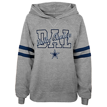 Dallas Cowboys Juniors Sideline Hooded Raglan Shirt