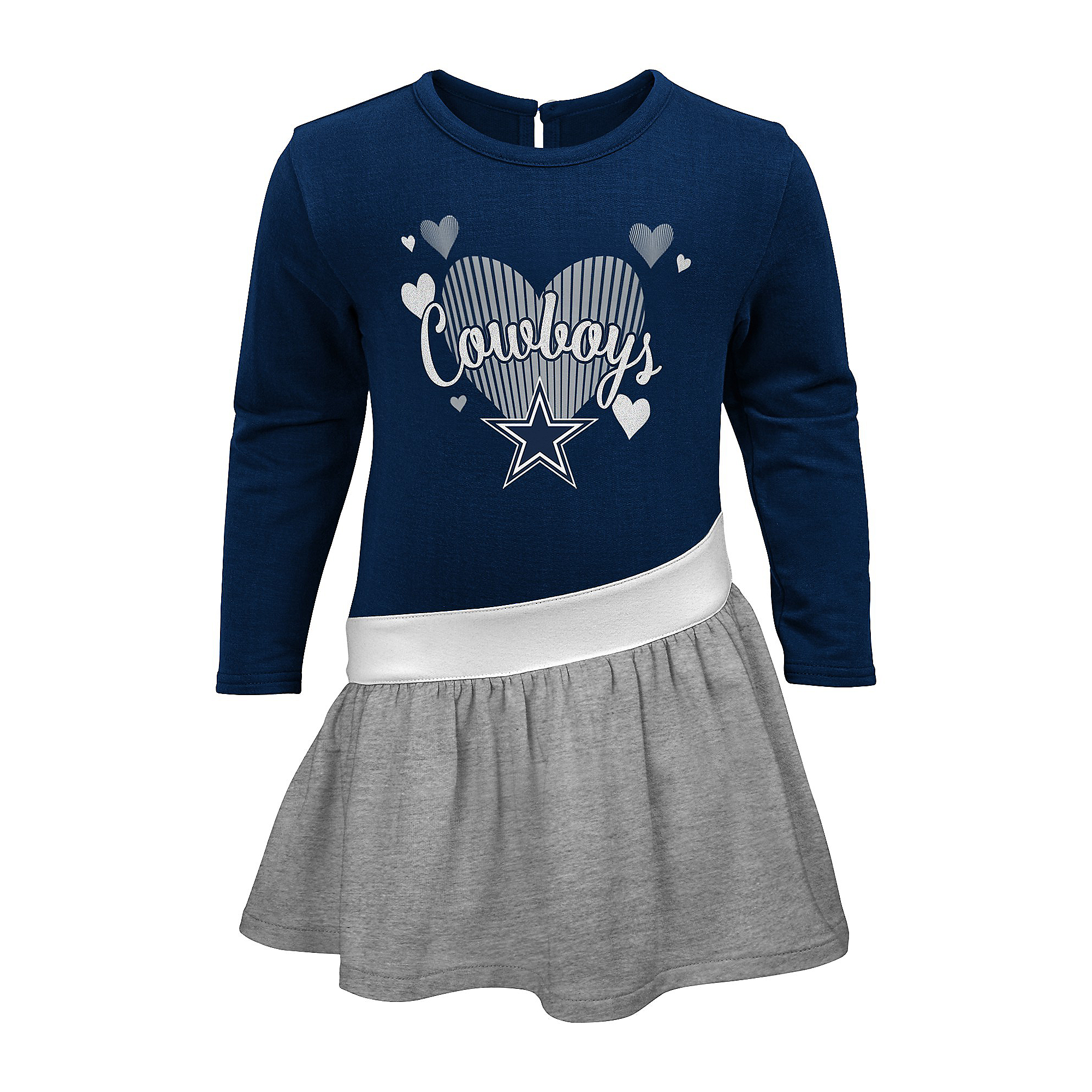 Dallas Cowboys Girls All Hearts Diamond Dress