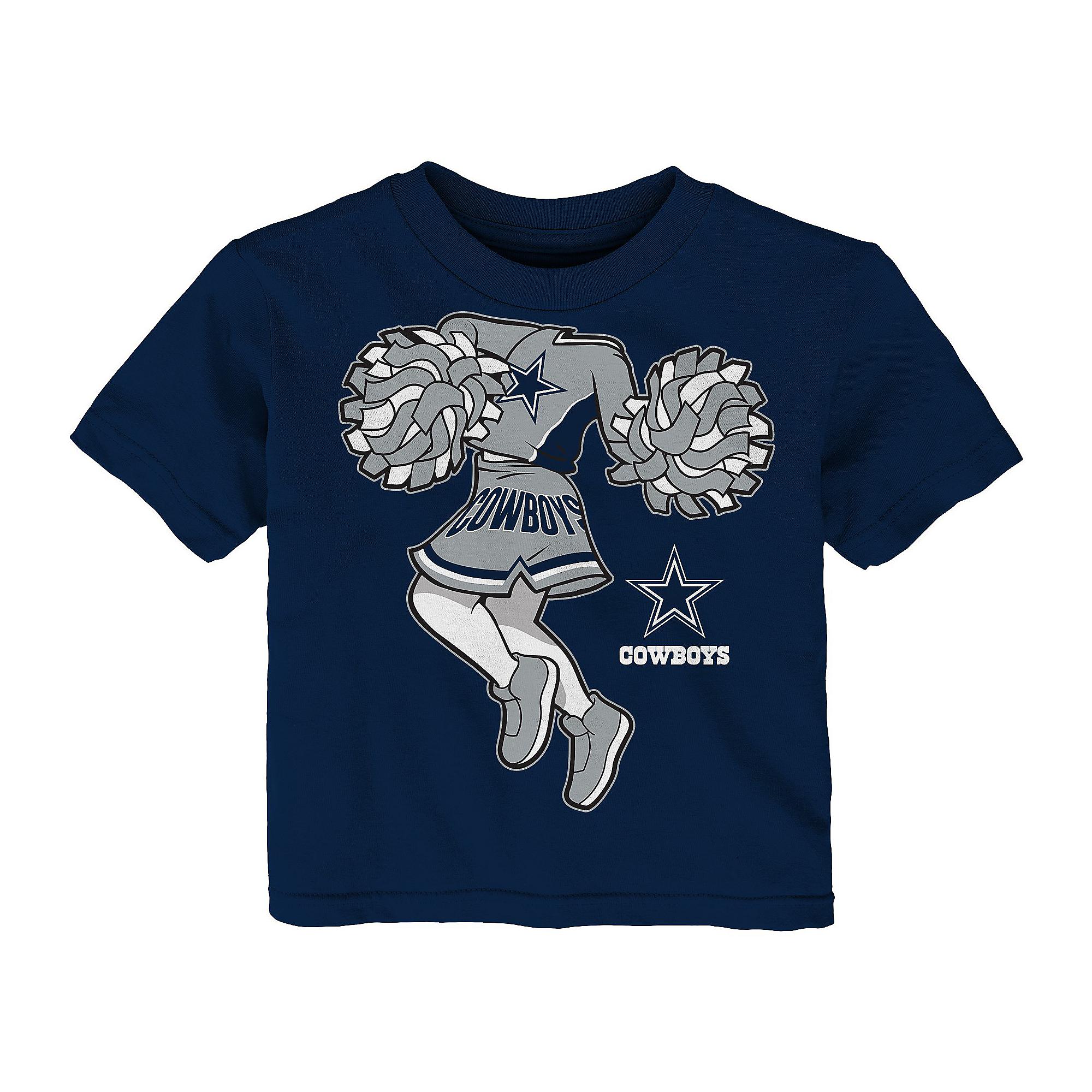 Dallas Cowboys Infant Pom Cheer II Short Sleeve T-Shirt