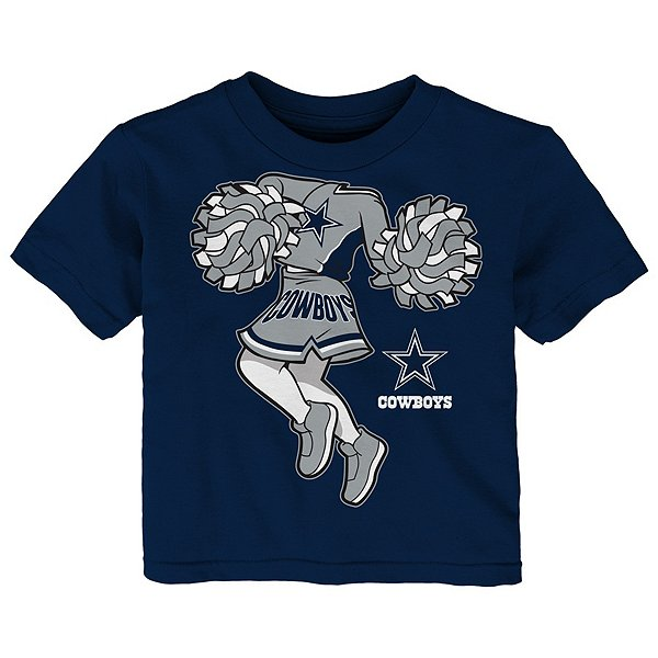 Dallas Cowboys Toddler Pom Cheer II Short Sleeve T-Shirt
