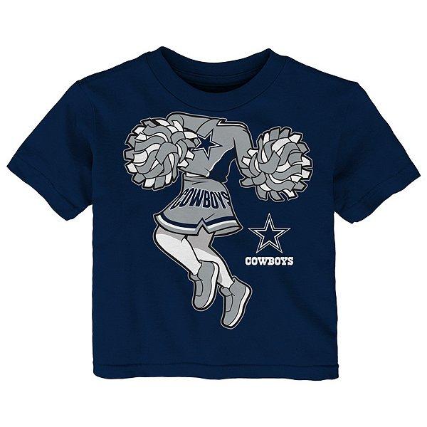 Dallas Cowboys Toddler Pom Cheer II Short Sleeve T-Shirt