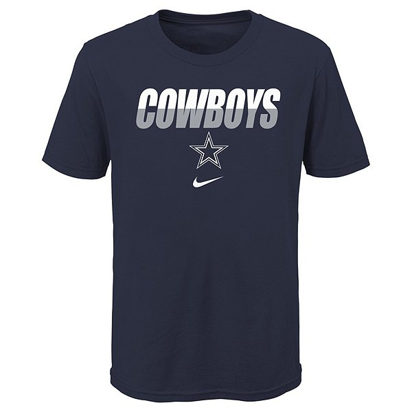 Dallas Cowboys Nike Youth Cotton Split Name Short Sleeve T-Shirt