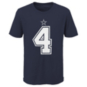 Dallas Cowboys Nike Youth Dak Prescott #4 Name & Number T-Shirt