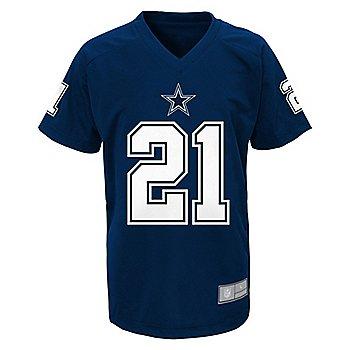 Dallas Cowboys Kids Ezekiel Elliott #21 V-Neck Name & Number T-Shirt