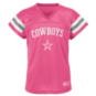 Dallas Cowboys Girls Dak Prescott #4 V-Neck Name & Number T-Shirt