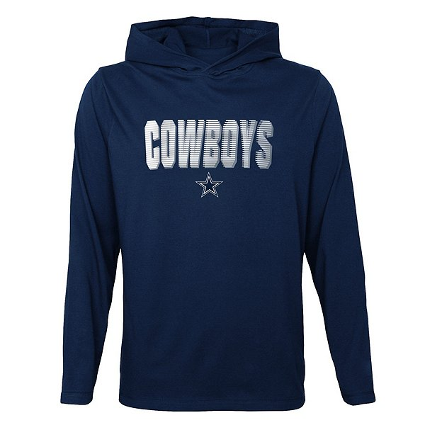 Dallas Cowboys Toddler Blocker Long Sleeve Hooded T-Shirt