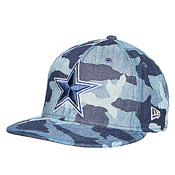 Dallas Cowboys New Era Mens Denim Camo 59Fifty Cap