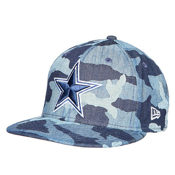Dallas Cowboys New Era Mens Denim Camo 59Fifty Hat