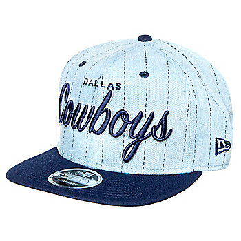 Dallas Cowboys New Era Mens Denim Hit High Crown 9Fifty Cap