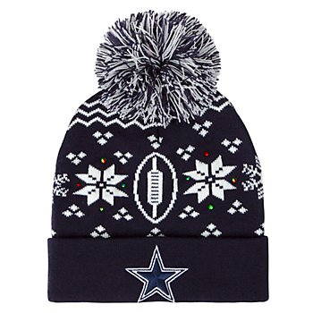 Dallas Cowboys Mens Greuber Light Up Knit Hat