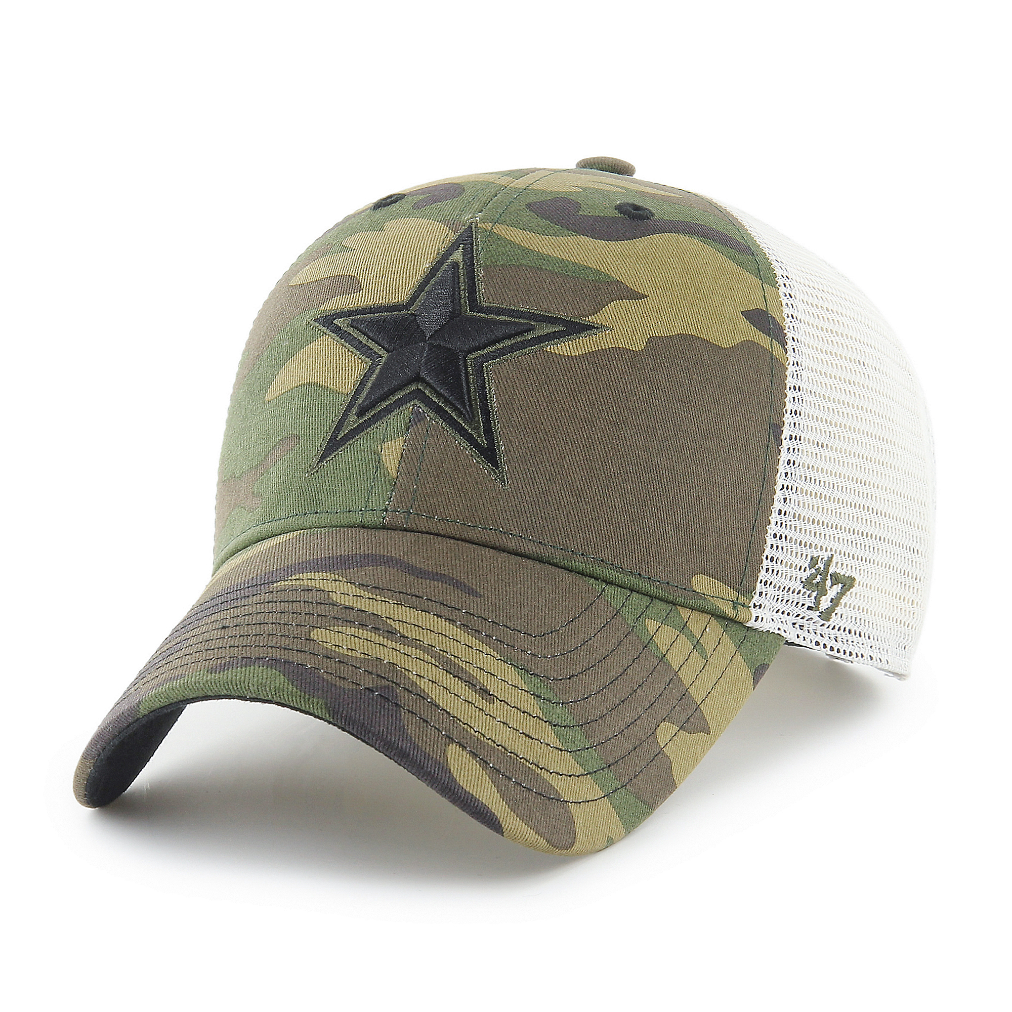 Dallas Cowboys '47 Brand Mens Camo Branson Strap MVP Adjustable Hat