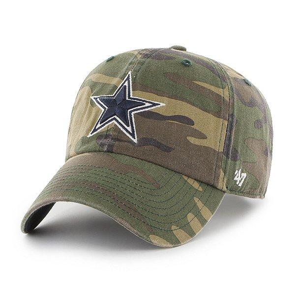 Dallas Cowboys '47 Brand Mens Camo Clean Up Adjustable Hat