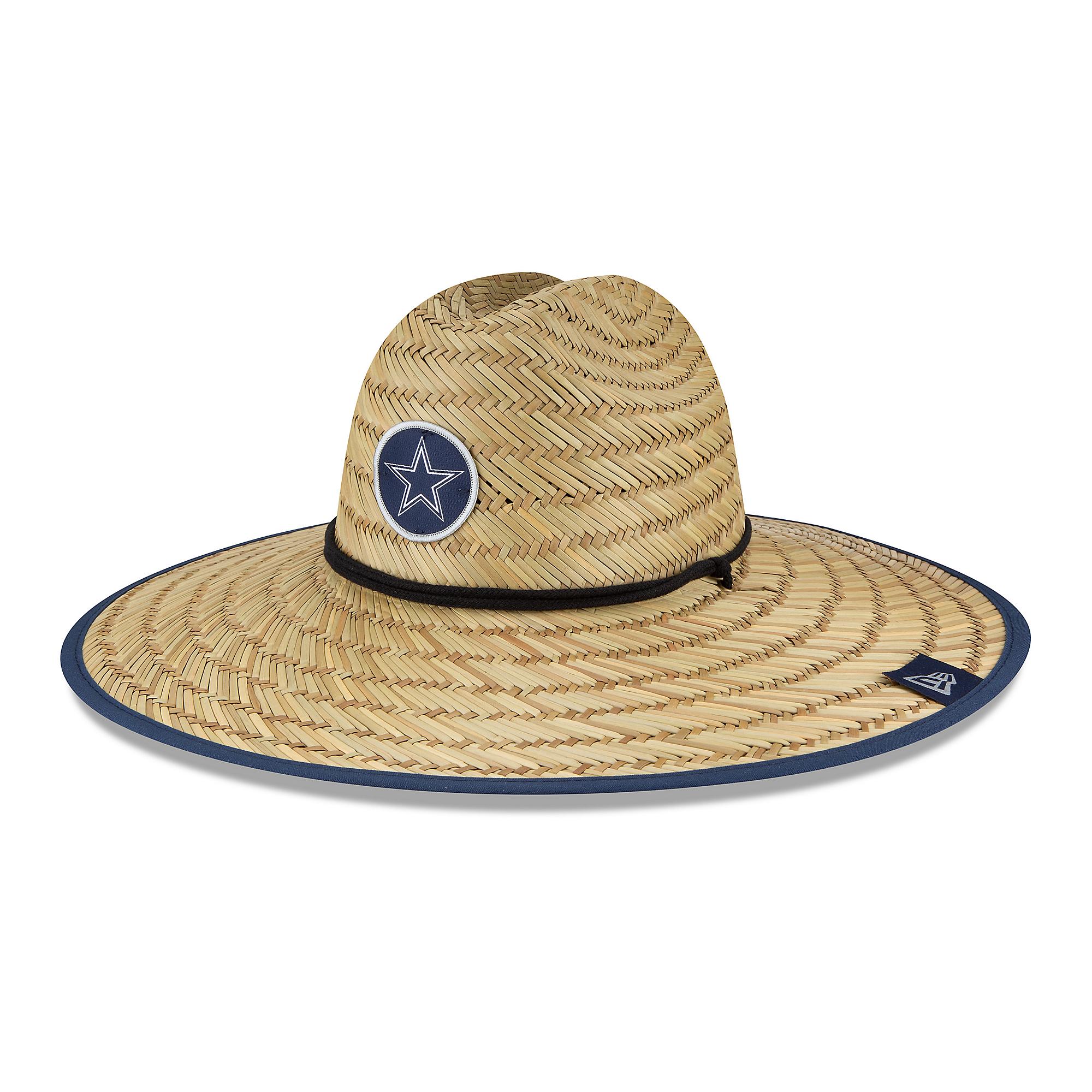 Dallas Cowboys New Era Summer Sideline Mens Straw Hat