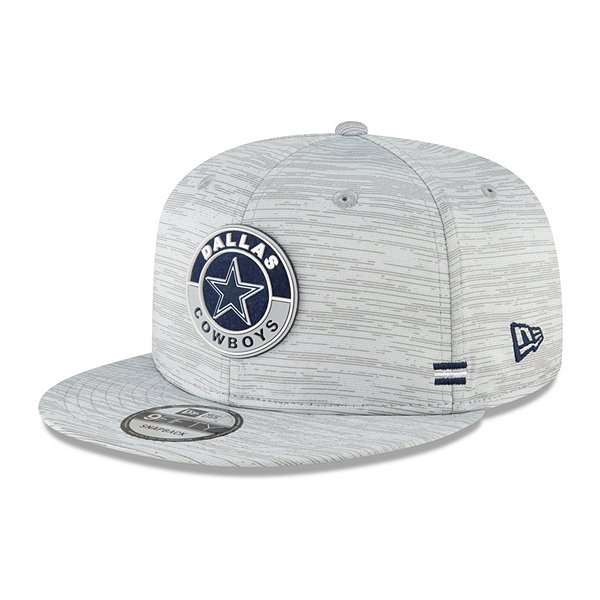 Dallas Cowboys New Era Mens Sideline Dolphin Grey 9Fifty Hat