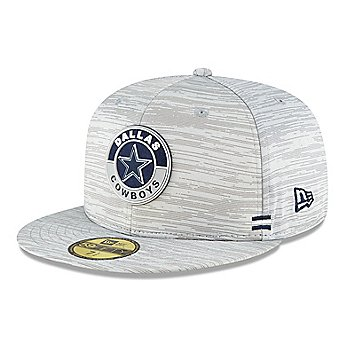 Dallas Cowboys New Era Mens Sideline Dolphin Grey 59Fifty Hat