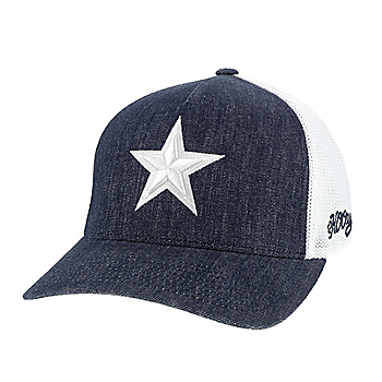 Dallas Cowboys Hooey Mens Denim Tonal Star Flex Fit Hat