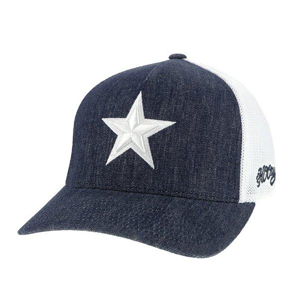 Dallas Cowboys Hooey Mens Denim Tonal Star Flex Fit Hat