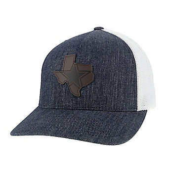 Dallas Cowboys Hooey Mens Denim State Star Flex Fit Hat