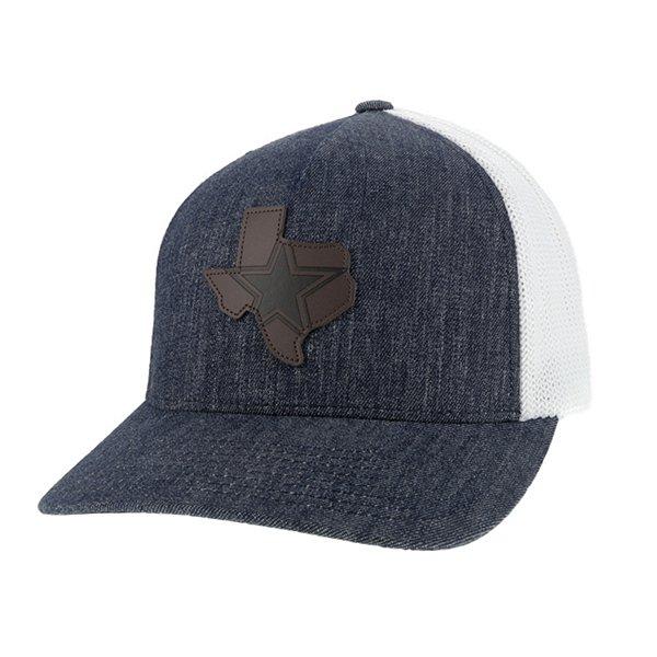 Dallas Cowboys Hooey Mens Denim State Star Flex Fit Hat