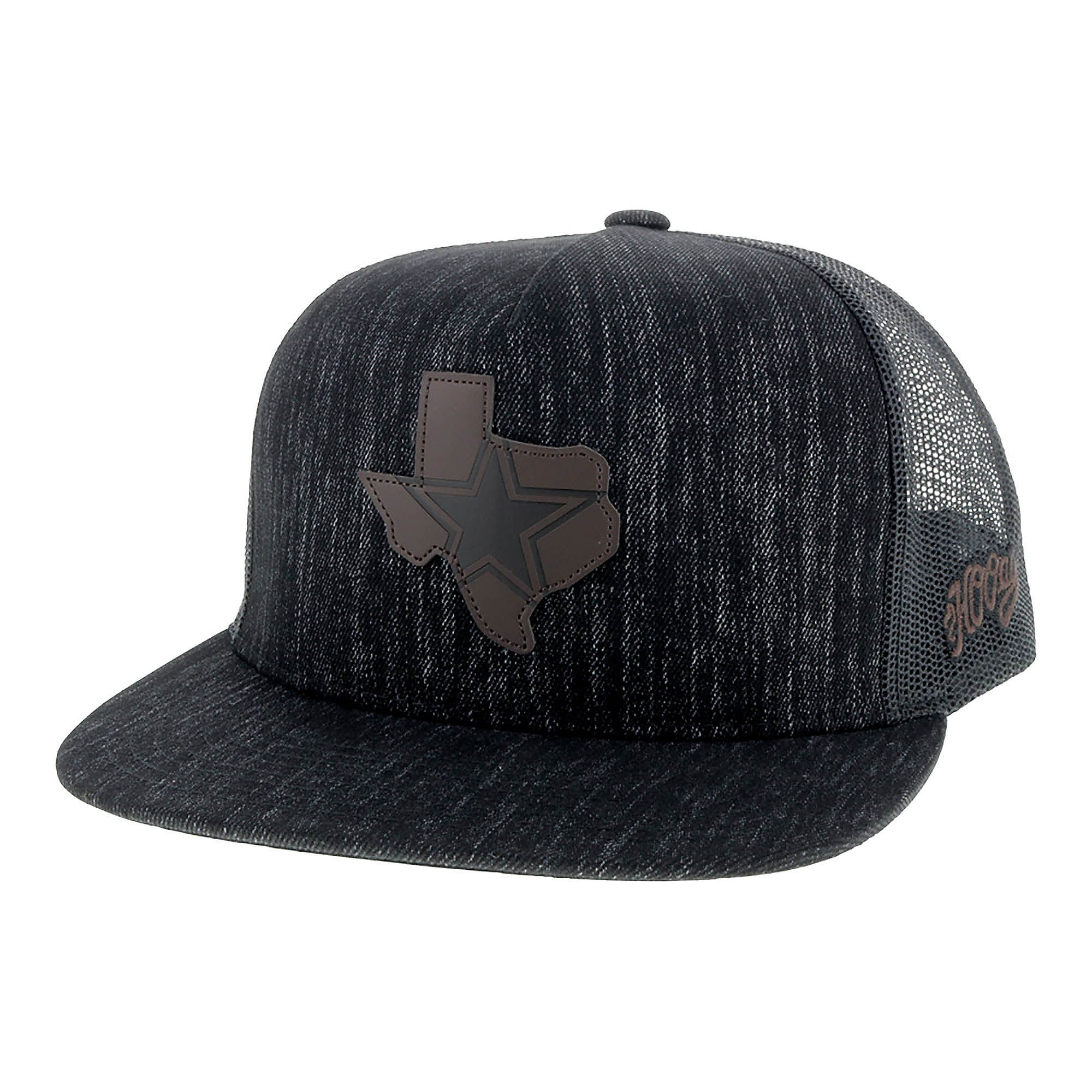 Dallas Cowboys Hooey Mens Black Denim State Star Adjustable Hat