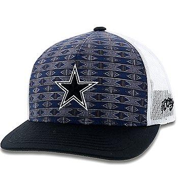 Dallas Cowboys Hooey Mens Pattern Print Adjustable Hat