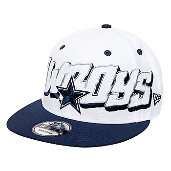 Dallas Cowboys New Era 1960 Mens Oversized Wordmark 9Fifty Hat