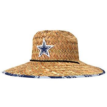 Dallas Cowboys Mens Floral Straw Hat