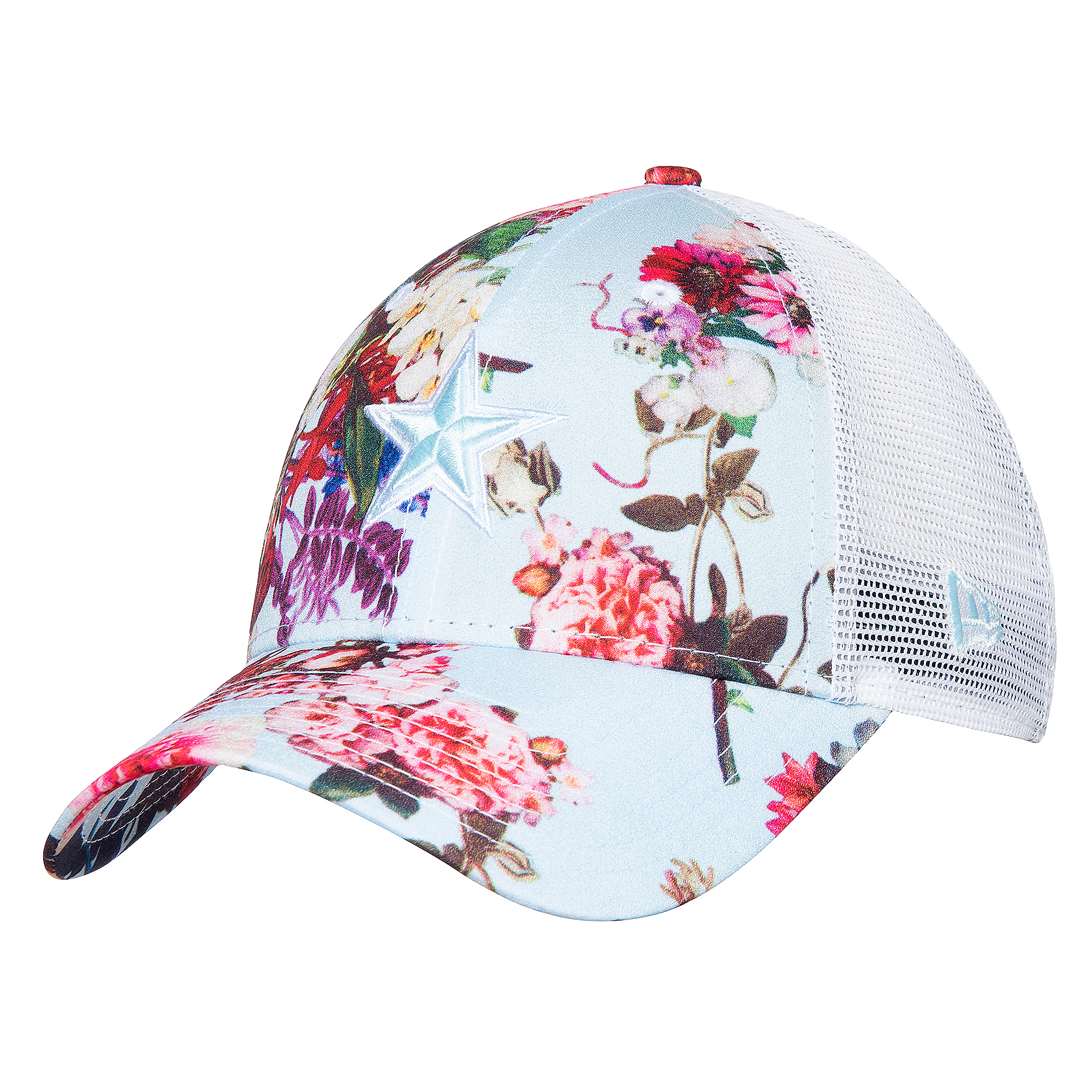 Dallas Cowboys New Era Womens Floral Trucker 9Forty Cap