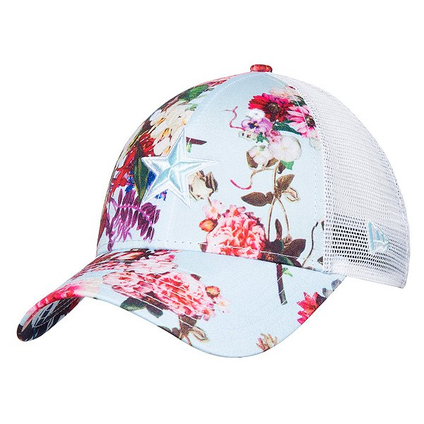 Dallas Cowboys New Era Womens Floral Trucker 9Forty Hat