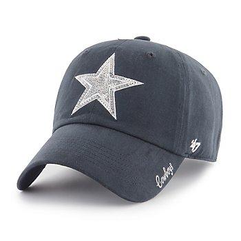 Dallas Cowboys '47 Brand Womens Sparkle Team Color Clean Up Adjustable Hat