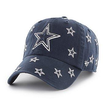 Dallas Cowboys '47 Brand Womens Confetti Clean Up Adjustable Hat