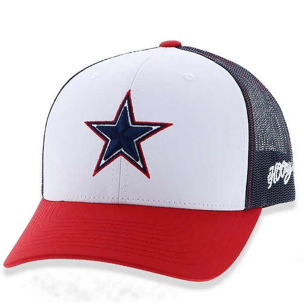 Dallas Cowboys Hooey Youth Red White Blue Mesh Adjustable Hat
