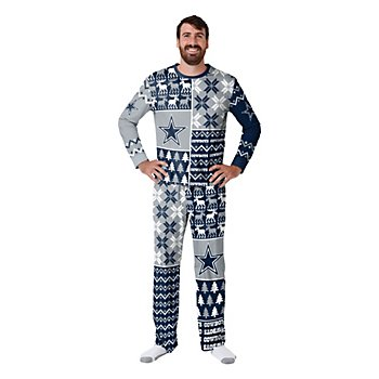 Dallas Cowboys Mens Family Holiday Ugly Pajama Set