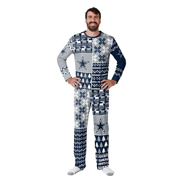 Dallas Cowboys Mens Family Holiday Ugly Pajama Set