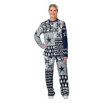 Dallas Cowboys Womens Family Holiday Ugly Pajama Set