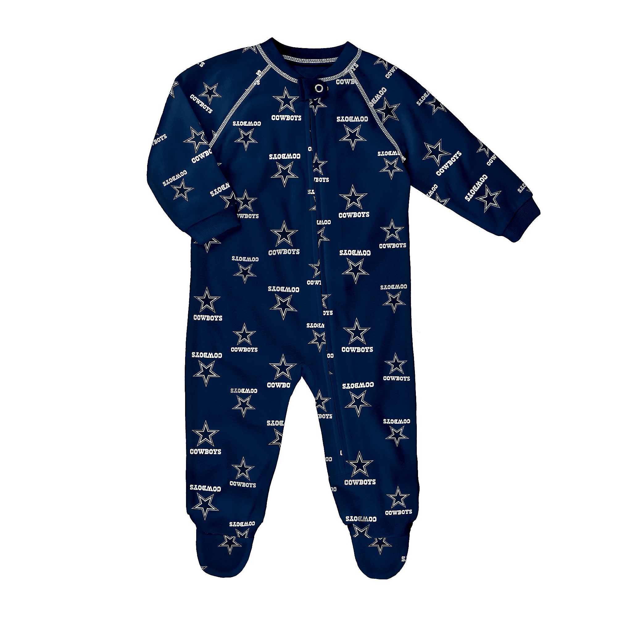 Dallas Cowboys Toddler Raglan Zip Up Coverall
