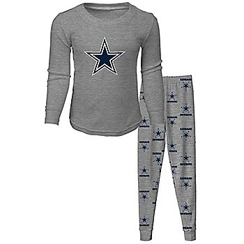 Dallas Cowboys Kids Long Sleeve T-Shirt and Pant Sleep Pajama Set